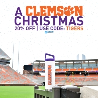 Christmas Advertisement specifically targeted for Clemson fans for Gametime Sidekicks