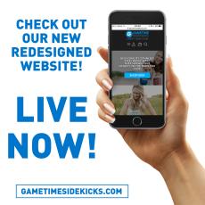 New website launch post for Gametime Sidekicks